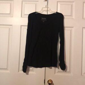 Black long sleeve cotton shirt